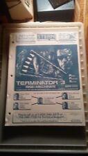 Terminator 3 Pinball w/Schematics-Stern Orig. Manual-L@K!