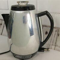 Vintage SUNBEAM Chrome Percolator CoffeeMaster Coffee Maker Perk AP-AC VIDEO