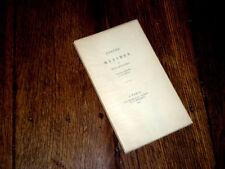 maximes et réflexions de Goethe 1943 morale aphorismes sur vélin blanc