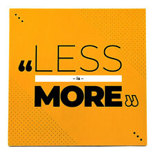 Less Is More Quote Drink Coaster Cup Mat Waterproof Coffee Mug Pad Wooden Osarix