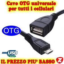 CAVO FEMMINA MICRO-USB USB OTG A GALAXY R NOTE NEXUS Y DUOS PR XOOM ARCHOS TG01f