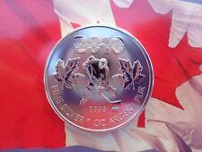2010 Canadian Olympic Hockey Player coin BU .9999 fine silver
