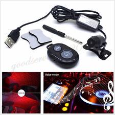 Car SUV USB LED Starry Sky Decor Atmosphere Light Music Sound Remote Controller