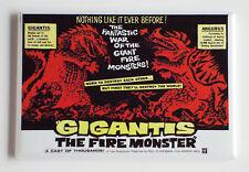 Gigantis Fire Monster FRIDGE MAGNET (2 x 3 inches) movie poster horror