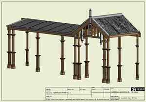 TRADITIONAL TIMBER VERANDAH - FULL BUILDING PLANS 2D & 3D