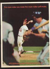 1970 MLB Baseball Program California Angels at Baltimore Orioles EXMT+