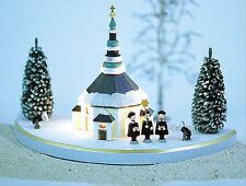 Lichterhaus Seiffener Kirche im Schnee elektr. beleuchtet Original Erzgebirge