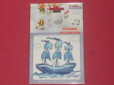 sticker bateau 3 mâts résiste à la chaleur et l'eau pour faïence,plastique,verre