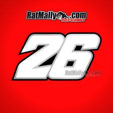 DANI PEDROSA 26 MOTOGP RACE NUMBER STICKERS DECALS GRAPHICS x3
