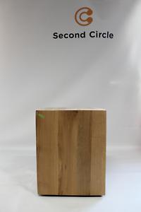 Jan Kurtz Roll-it Hocker Beistelltisch Tisch Hocker eiche 40x40x50cm sFOTOS