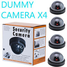 4Pcs Fake Dummy CCTV Dome Security Camera with LED Indoor Outdoor Warning Sign