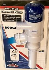 "BOAT AERATOR LIVEWELL PUMP, 800 GPH, 3/4"" HOSE REQUIRED,57473"