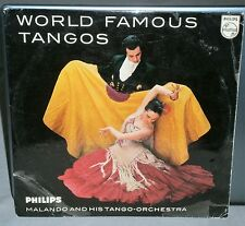 "MALANDO AND HIS TANGO ORCHESTRA WORLD FAMOUS TANGOS P 13074 R 10"" 33.3 PHILIPS"