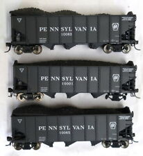 3 Pennsylvania RR Coal Hoppers, different #s - HO Scale