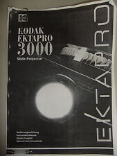 Las instrucciones Proyector De Diapositivas Kodak Ektapro 3000 GB/Inglés Cd/correo electrónico