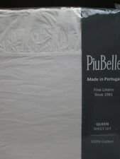 Piubelle Portugal Shabby Cottage White Raw Ruffled Sheet Set - Queen