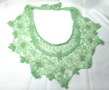 Vintage Green Beaded & Sequins Pattern Collar Scarf