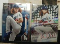 (2) 2020 Topps Chrome Dustin May RC LOT! Base #176 & Freshman Flash Refractor