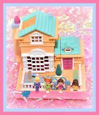 ❤️Polly Pocket Vtg 1994 Light-Up Hotel Villa Bluebird COMPLETE 4 Dolls House❤️
