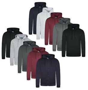 Mens Sweatshirt Hoodie Earthquake Plain Zip Up Long Sleeve Jumper Pullover Top