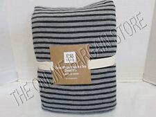 Pottery Barn Teen Tonal Stripe Favorite Tee Bed Dorm Sheets Set Full Black Gray
