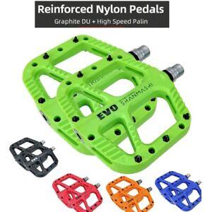 SHANMASHI EVO Bicycle Nylon Flat Pedals Seal Bearings Road MTB BMX Bike Pedals