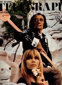 1968 Salvador Dali Paco Rabanne Jean Clemmer Amanda Lear vintage Daily Telegraph
