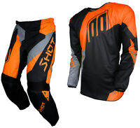NEW 2018 SHOT ALERT MOTOCROSS MX ENDURO PANT & JERSEY COMBO KIT NEON KTM ORANGE