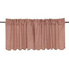 "Independence Scalloped Tier Set by VHC Brands - Lined - 24"" x 36"""