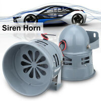 12W 110dB 12V Sound Loud Car Warning Alarm Police Fire Siren Horn Speaker System