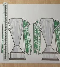 Celtic Stickers 9 In a row (9iar) Large Football Championship Cup
