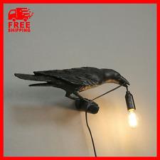Seletti Style Raven Lamp Wall Light Black White Novelty Bird Resin Crow Bedside