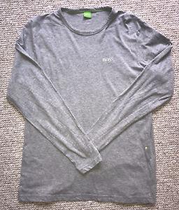 HUGO BOSS Grey Long Sleeve T-shirt Top size L