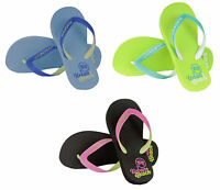 Ladies Womens 'Corp' Casual Rubber Flip Flops / Sandals ~ UK 3 4 5 6 7 8