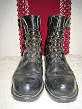 Vintage HH Brown Shoe Company Black Leather Military Combat Flyer Boots 9D