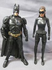 """Dark Knight Rises BATMAN + CATWOMAN 6"""" Lot Movie Masters Mattel DC"""