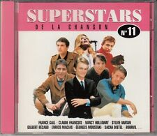 CD  SUPERSTARS DE LA CHANSON DALIDA ADAMO CLAUDE FRANCOIS FRANCE GALL VARTAN