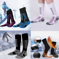 Men Women Long Warm Snow Ski Hiking Outdoor Winter Sport Socks Snowboard Safe