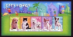 2004 Australia Cats A Dogs Mini Sheet Mint Never Hinged, Clean & Fresh