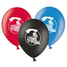 """Train Steam Engine   12""""   Assorted Printed Latex Balloons pack of 25"""