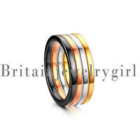 4PCS Stainless Steel Knuckle Stacking Rings for Women Girls Wedding Promise*2MM