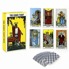 78Pcs Rider Waite Tarot Magician Card Cards Deck Cards English Full Version KU