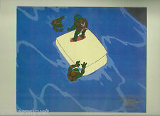TEENAGE MUTANT NINJA TURTLES Rare Production Animation Cell with 3 Characters