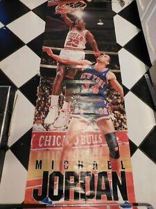 """HUGE 74""""x26"""" COSTACOS BROS. MICHAEL JORDAN POSTER CHICAGO BULLS"""