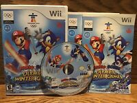 Mario And Sonic At The Olympic Winter Games (Nintendo Wii) CIB Complete Manuals