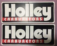 "2 pcs HOLLEY  CARBURETORS NASCAR NHRA 9.5"" X 3.75 large racing decals/stickers"