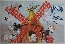 MISTI : MOULIN ROUGE . LITHOGRAPHIE 1897 , PROGRAMMES ILLUSTRéS , MAINDRON