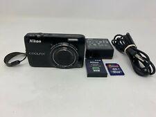 Nikon Coolpix S6300 Digital Camera-Black, With Accessories