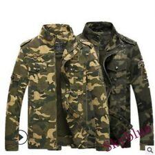 Mens Camouflage Combat Jackets Retro Military Pocket Outdoor Army Retro Coats sz