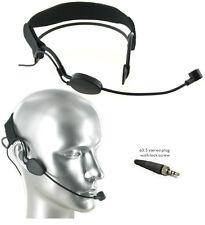 AV-JEFE Pro Noise Cancelling Headset Microphone for Sennheiser Transmitter